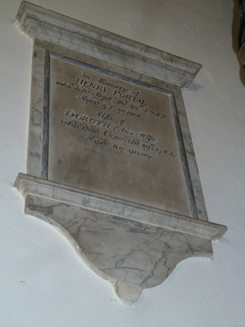 Whitchurch-All Hallows: wall memorial (a)
