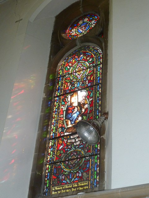 Whitchurch-All Hallows: stained glass window (4)