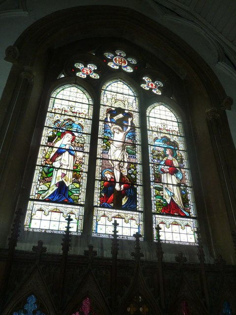 Whitchurch-All Hallows: stained glass window (5)