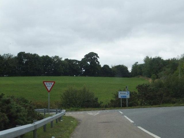 Road junction near Birdcage Copse