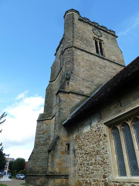 St. John the Baptist, Crawley: church tower