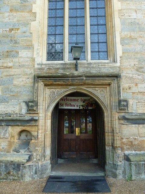 St. John the Baptist, Crawley: west door