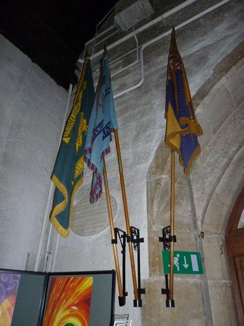St. John the Baptist, Crawley: flags