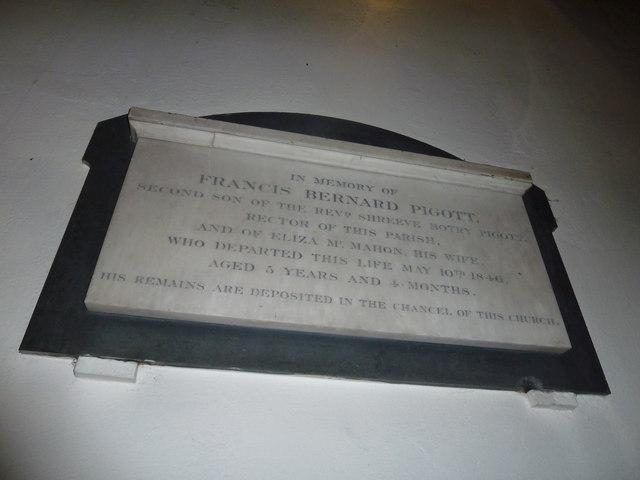 St. John the Baptist, Crawley: memorial (a)