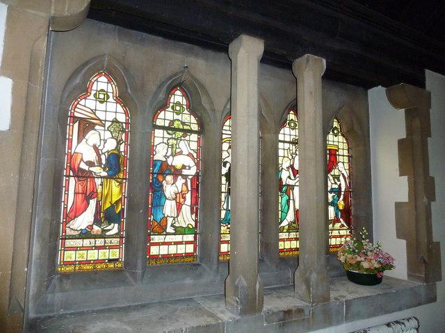 St. John the Baptist, Crawley: stained glass window (iii)