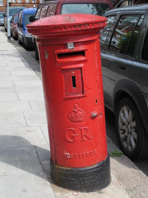 George V postbox, Mazenod Avenue, NW6