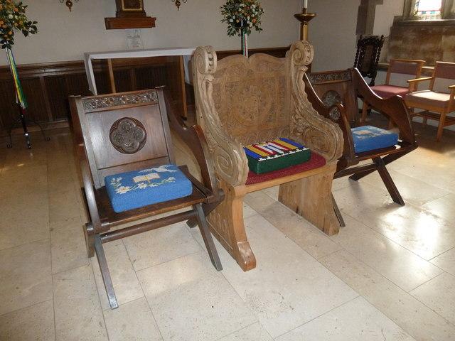 St. John the Baptist, Crawley: three chairs