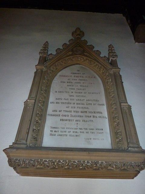 St. John the Baptist, Crawley: memorial (c)