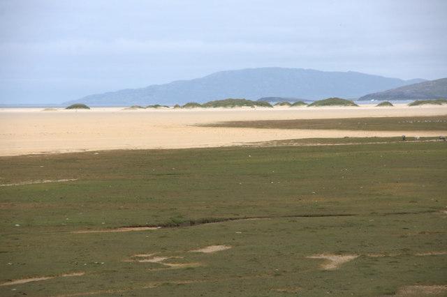 Saltmarsh and embryonic dunes beside Traigh an Taoibh Thuath