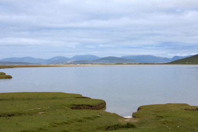 Tidal lagoon on Traigh Taoibh Thuath