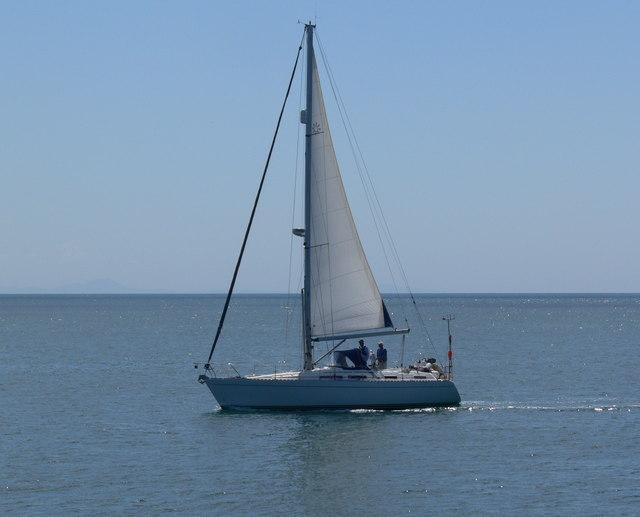 Sailing boat near Trearddur Bay