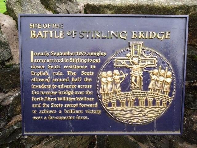 Stirling, the Auld Brig, battle plaque