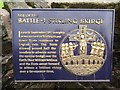 Photo of William Wallace and Battle of Stirling Bridge blue plaque
