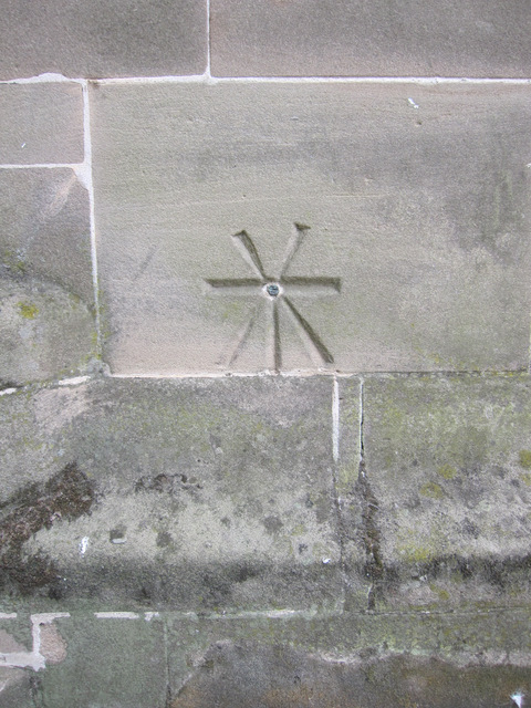 1GL Bench mark and bolt on the Guild Chapel