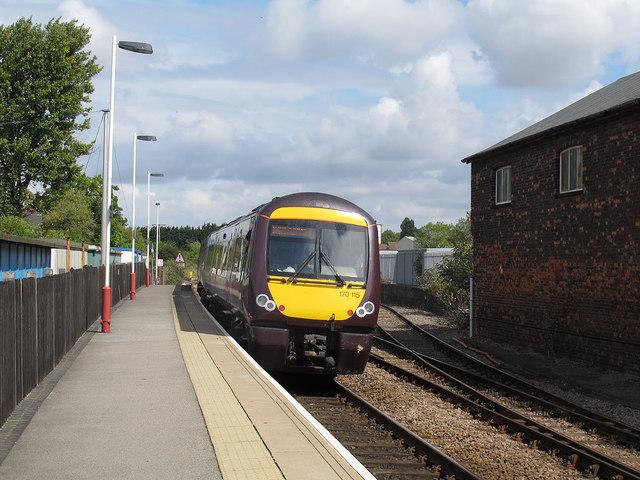 Turbostar departing from Oakham