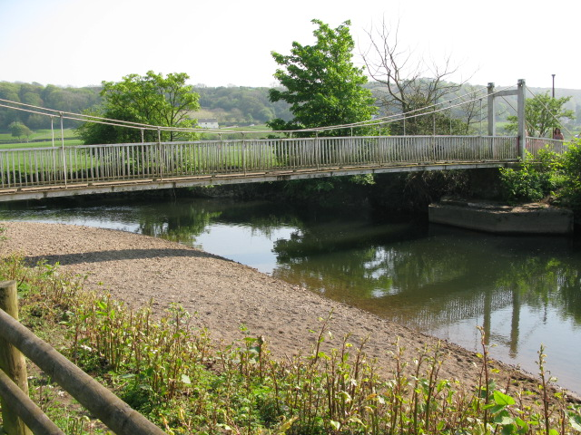 Footbridge over the Ogmore River