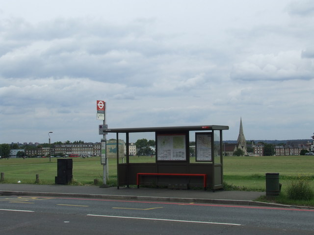 Bus stop on Blackheath