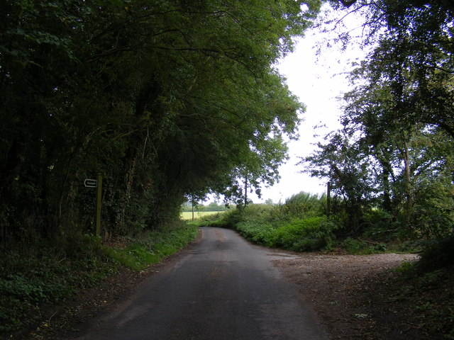 Swan Lane & the footpaths to the A1120 & Jockey's Lane