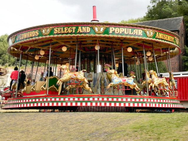 Victorian Fairground Carousel, Blists Hill