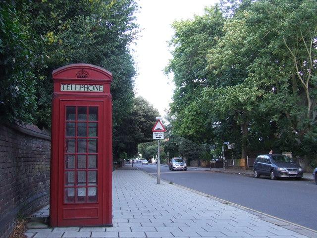 Phone box near Blackheath