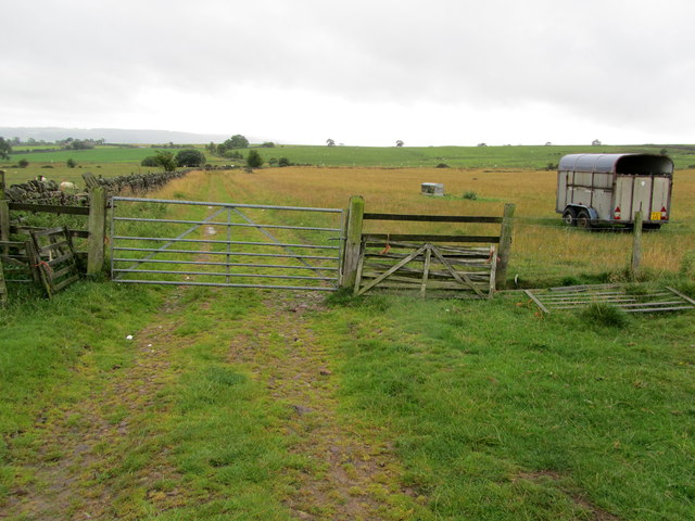 Bridleway leading from Lindley Moor