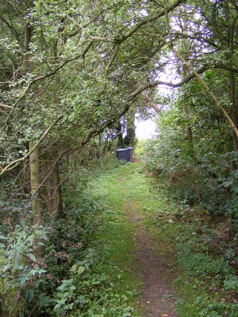 Footpath to Framsden Road,Jockey's Lane & the A1120