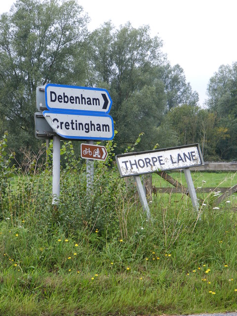Roadsign & Thorpe Name sign