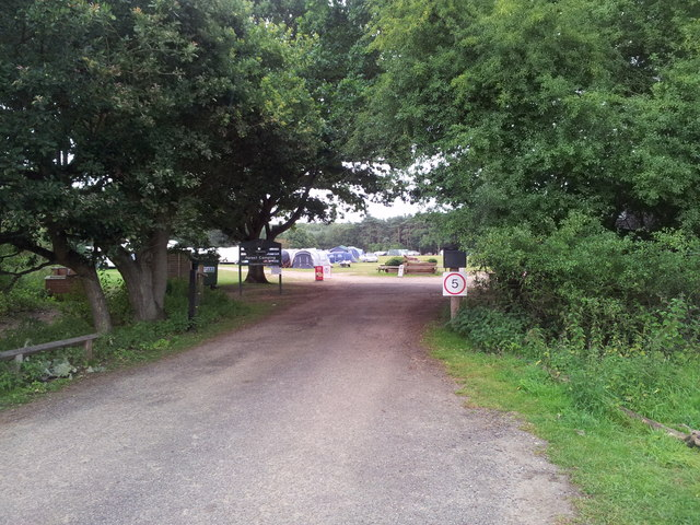 Entrance to Rendlesham Forest camp site