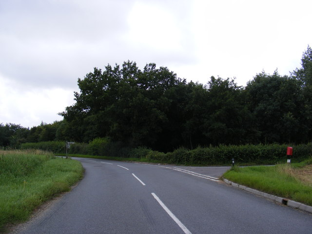 B1077 at the junction with New Road