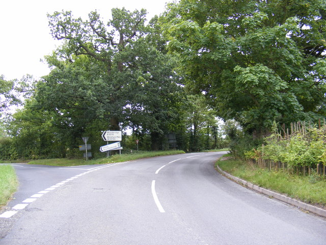 B1077 at the junction with B1079