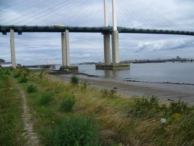 Path along the river bank at Stone Marshes