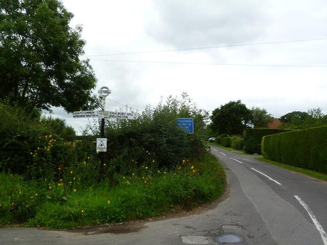 Chalbury Common, fingerpost