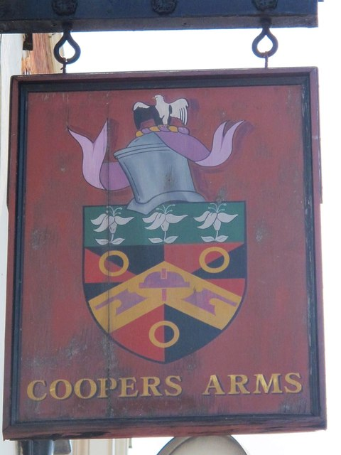 Sign for The Coopers Arms, Kilburn High Road, NW6