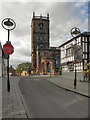 SJ5441 : Whitchurch High Street, St Alkmund's Church by David Dixon