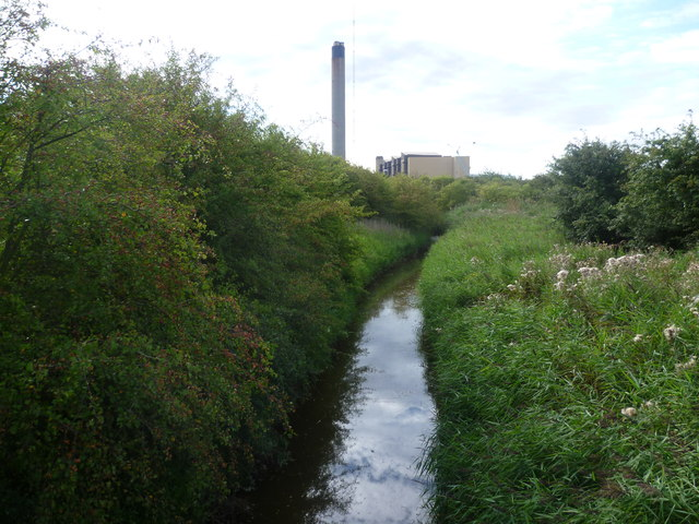 Drainage ditch on Dartford Marshes