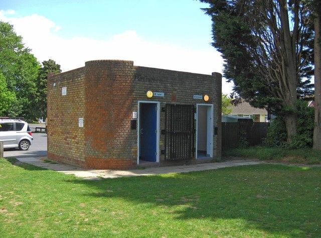 Public convenience by Avisford Park Recreation Ground, Nyetimber Lane, Rose Green