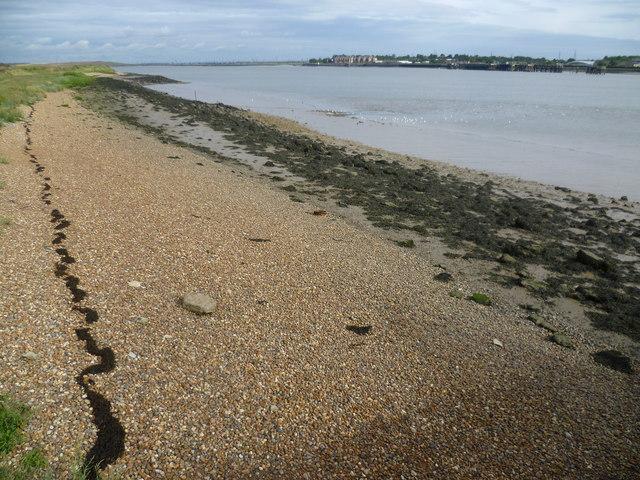Beach by Dartford Marshes