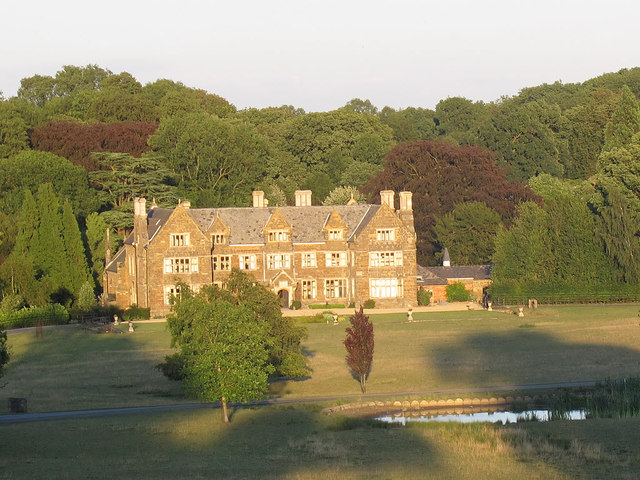 Launde Abbey, front with pond