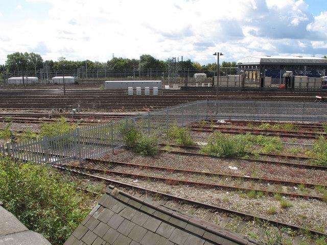 Old Oak Common, EWS fence, FGW depot