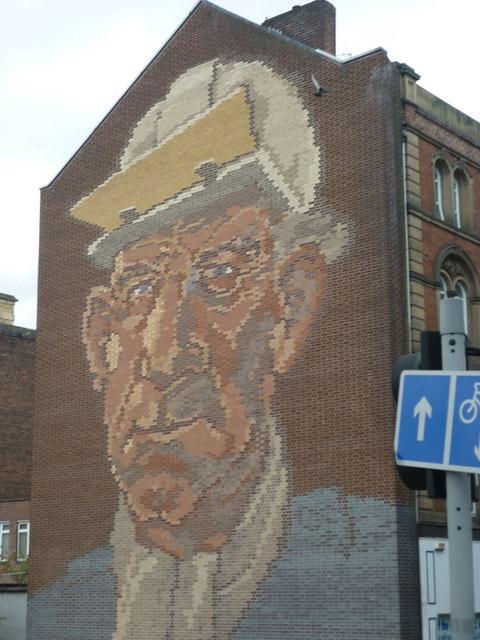 A brick mural on Castle Street