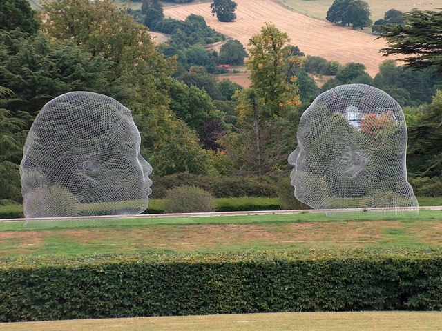 Irma-Nuria by Jaume Plensa (2010) at The Yorkshire Sculpture Park