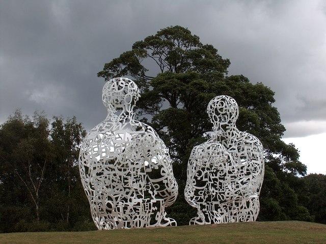 Spiegel by Jaume Plensa (2010) at The Yorkshire Sculpture Park