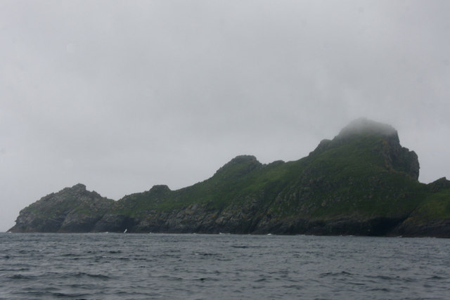 Dun from across Village Bay, St Kilda