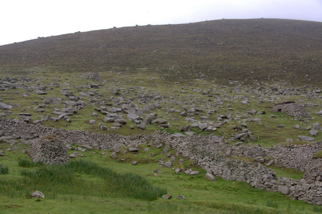 The rocky slopes of Oisebhal, St Kilda
