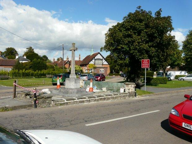 Saltwood war memorial under repair