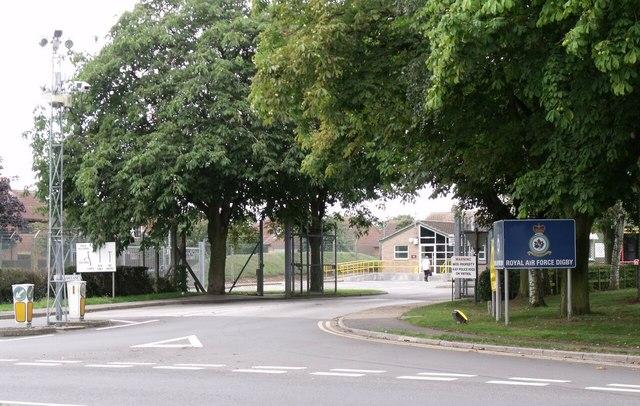 Entrance to RAF Digby