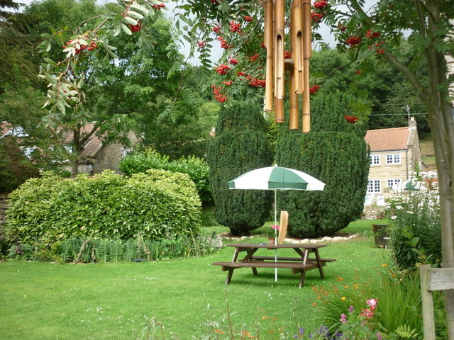 The beer garden at the Malt Shovel