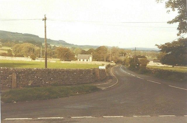 The road to Little Longstone in 1984