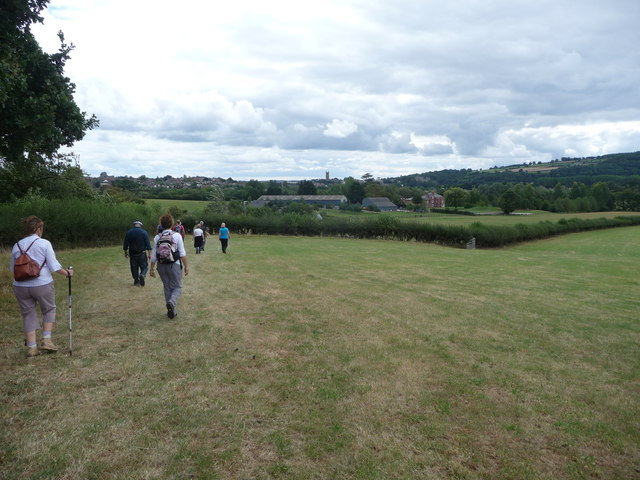 Walkers on a footpath near Ludlow