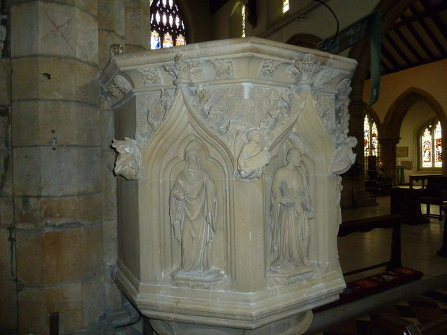 St Mary, Horsham- pulpit detail